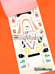 Tameo Kits: Marking / livery 1/43 scale - Williams Renault FW19 Rothmans #3, 4 - Heinz-Harald Frentzen (DE), Jacques Villeneuve (CA) - European Grand Prix 1997 - water slide decals - for Tameo Kits kit TMK251