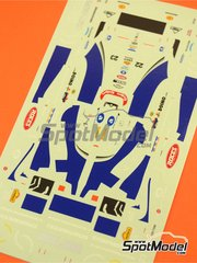 Tameo Kits: Marking / livery 1/43 scale - Minardi Ford M198 Fondmetal #22, 23 - Shinji Nakano (JP), Esteban Tuero (AR) - San Marino Grand Prix 1998 - water slide decals - for Tameo Kits kit TMK256