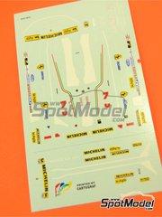 Tameo Kits: Marking / livery 1/43 scale - Ferrari 312T5 Fiat #1, 2 - Jody Scheckter (ZA), Gilles Villeneuve (CA) - Monaco Formula 1 Grand Prix 1980 - water slide decals - for Tameo Kits reference TMK266