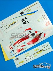 Tameo Kits: Marking / livery 1/43 scale - BAR Supertec 01 Lucky Strike #22, 23 - Jacques Villeneuve (CA), Mika Salo (FI) - Monaco Grand Prix 1999 - water slide decals - for Tameo Kits kit TMK284