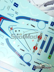Tameo Kits: Marking / livery 1/43 scale - Brabham BT44B Martini Racing #7, 8 - Carlos Pace (BR), Carlos Reutemann (AR) - German Formula 1 Grand Prix 1975 - water slide decals - for Tameo Kits reference TMK294