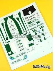 Tameo Kits: Marking / livery 1/43 scale - Williams Ford FW08 TAG Saudia #5, 6 - Keijo Erik 'Keke' Rosberg (FI), Derek Daly (IE) - Swedish Grand Prix 1982 - water slide decals - for Tameo Kits reference TMK302