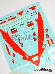 Tameo Kits: Marking / livery 1/43 scale - McLaren Ford M28 Marlboro #7, 8 - John Watson (GB), Patrick Tambay (FR) - Argentine Grand Prix 1979 - water slide decals - for Tameo Kits reference TMK318