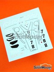 Tameo Kits: Decals 1/43 scale - Brabahm Ford BT44 Goodyear #7, 8 - Carlos Reutemann (AR), Carlos Pace (BR) - Austrian Grand Prix 1974 - for Tameo Kits kit TMK324