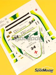 Tameo Kits: Marking / livery 1/43 scale - Williams Ford FW07 Ram Racing - Banco Occidental #34 - Emilio de Villota (ES) - Spanish Grand Prix 1980 - water slide decals - for Tameo Kits reference TMK326