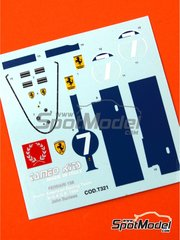 Tameo Kits: Marking / livery 1/43 scale - Ferrari 158 - John Surtees (GB) - USA Grand Prix 1964 - water slide decals - for Tameo Kits reference TMK333