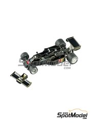 Tameo Kits: Marking / livery 1/43 scale - Lotus Ford 77 John Player Special #5, 6 - Mario Andretti (US), Gunnar Nilsson (SE) - Japanese Formula 1 Grand Prix 1976 - water slide decals - for Tameo Kits reference TMK340
