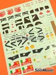 Decals 1/43 by Tameo Kits - Ferrari F2012 Santander - N� 5, 6 - Fernando Alonso, Felipe Massa - Germany and Italy Grand Prix 2012 for Tameo kit TMK410