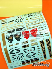 Tameo Kits: Decals 1/43 scale - Lotus Renault E20 Clear Total #9, 10 - Kimi Räikkönen (FI), Romain Grosjean (FR) - Abu Dhabi Grand Prix 2012 - for Tameo Kits kit TMK412
