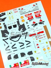 Tameo Kits: Decals 1/43 scale - Ferrari F138 F2013 Banco Santander #3, 4 - Fernando Alonso (ES), Felipe Massa (BR) - Spanish Grand Prix 2013 - for Tameo Kits kit TMK417