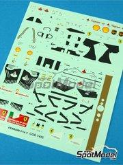 Tameo Kits: Decals 1/43 scale - Ferrari F14 T Banco Santander #7, 14 - Fernando Alonso (ES), Kimi Räikkönen (FI) - Australian Grand Prix 2014 - for Tameo Kits kit TMK421