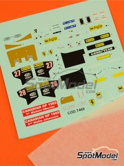 Tameo Kits: Decals 1/43 scale - Ferrari 156/85 Agip Marlboro #27, 28 - Michele Alboreto (IT), Stefan Johansson (SE) - Canadian Grand Prix 1985 - for Tameo Kits kit TMK428