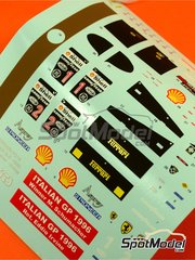 Tameo Kits: Decals 1/43 scale - Ferrari F310 Marlboro #1, 2 - Michael Schumacher (DE), Eddie Irvine (GB) - Italian Grand Prix 1996 - for Tameo Kits kit TMK431