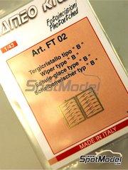 Tameo Kits: Detail 1/43 scale - Wiper blade - photo-etch - 12 units