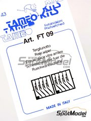 Tameo Kits: Detail 1/43 scale - Wiper blade - photo-etch - 8 units