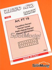 Tameo Kits: Logotypes 1/24 scale - Ferrari cavallino horse - photo-etched parts - 20 units