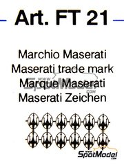 Tameo Kits: Logotypes 1/43 scale - Maserati - photo-etched parts - 12 units