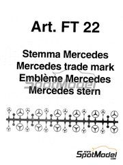 Tameo Kits: Logotypes 1/43 scale - Mercedes - photo-etched parts - 12 units