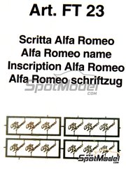 Tameo Kits: Logotypes 1/24 scale - Alfa Romeo - photo-etched parts - 12 units