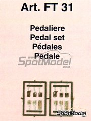 Tameo Kits: Detail 1/43 scale - Pedal set - photo-etched parts - 4 units