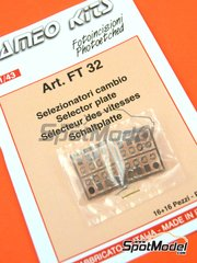 Tameo Kits: Detail 1/43 scale - Selector plate - photo-etched parts and metal pieces - 16 + 16 units