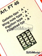 Tameo Kits: Detail 1/43 scale - Wing nuts type A - photo-etched parts - 12 units