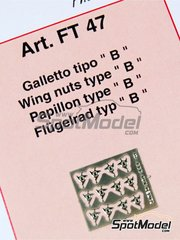 Tameo Kits: Detail 1/43 scale - Wing nuts type B - photo-etched parts - 12 units