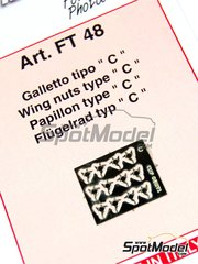 Tameo Kits: Detail 1/43 scale - Wing nuts type C - photo-etched parts - 12 units