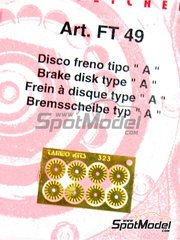 Tameo Kits: Detail 1/43 scale - Brake disc - photo-etched parts - 8 units