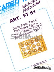 Tameo Kits: Detail 1/43 scale - Brake disc - photo-etched parts - 4 units