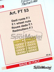 Tameo Kits: Nuts 1/43 scale - F1 wheel nuts - photo-etched parts - 40 units