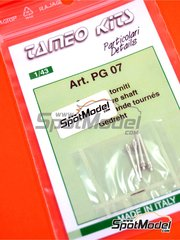 Tameo Kits: Detail 1/43 scale - Drive shaft for F1 - metal pieces - 4 units