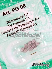 Tameo Kits: Detail 1/43 scale - TV Camera for F1 - 10 units