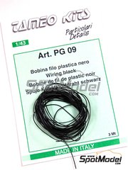 Tameo Kits: Detail - Black piping cord - 3 meters