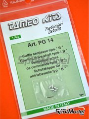 Tameo Kits: Detail 1/43 scale - Cowling drive shaft - turned metal pieces - 5 units