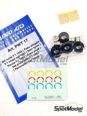 Tameo Kits: Rims and tyres set 1/43 scale - BBS rims with Rain tyres  - FIA Formula 1 World Championship 1993 - photo-etched parts, rubber parts, turned metal parts and water slide decals