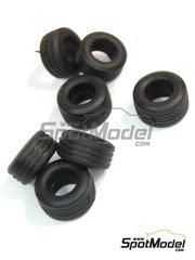 Tameo Kits: Tyre set 1/43 scale - Slick grooved tyres  1998 - 8 units