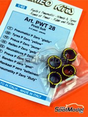 Tameo Kits: Tyre set 1/43 scale - Pirelli P Zero Yellow - 4 units