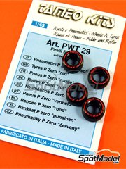 Tameo Kits: Tyre set 1/43 scale - Pirelli P Zero Red - 4 units