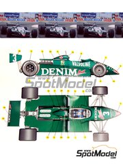 Tameo Kits: Model car kit 1/43 scale - Tyrrell Ford 011 Valvoline #3, 4 - Michele Alboreto (IT), Brian Henton (GB) - Las Vegas Formula 1 Grand Prix 1982 - photo-etched parts, turned metal parts, water slide decals, white metal parts and assembly instructions