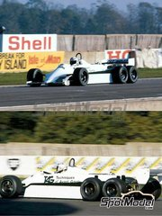 Tameo Kits: Model car kit 1/43 scale - Williams Cosworth FW07D six wheels Fly Saudia - Alan Jones (AU), Carlos Reutemann (AR) - Test version 1981 - photo-etched parts, turned metal parts, water slide decals, white metal parts and assembly instructions