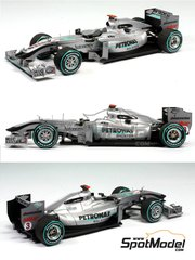 Tameo Kits: Model car kit 1/43 scale - Mercedes-Benz GP MGP W01 Sauber Petronas #3, 4 - Michael Schumacher (DE), Nico Rosberg (DE) - Malaysia Grand Prix 2010 - photo-etched parts, turned metal parts, water slide decals, white metal parts and assembly instructions