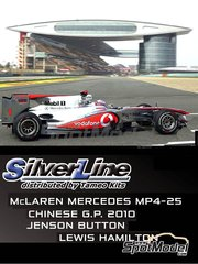 Tameo Kits: Model car kit 1/43 scale - McLaren Mercedes MP4-25 Vodafone #1, 2 - Jenson Button (GB), Lewis Hamilton (GB) - Chinese Grand Prix 2010 - photo-etched parts, turned metal parts, water slide decals, white metal parts and assembly instructions