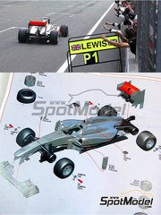 Tameo Kits: Model car kit 1/43 scale - McLaren Mercedes MP4/26 Vodafone - Lewis Hamilton (GB), Jenson Button (GB) - Chinese Grand Prix 2011 - photo-etched parts, turned metal parts, water slide decals, white metal parts and assembly instructions