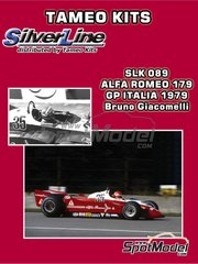 Tameo Kits: Model car kit 1/43 scale - Alfa Romeo 179 Alfa Romeo #35 - Bruno Giacomelli (IT) - Italian Grand Prix 1979 - photo-etched parts, turned metal parts, water slide decals, white metal parts and assembly instructions