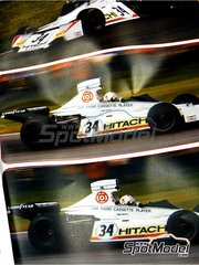 Tameo Kits: Model car kit 1/43 scale - Brabham Ford BT42/3 Hitachi #34 - Teddy Pilette (BE) - Belgian Grand Prix 1974 - photo-etched parts, turned metal parts, water slide decals, white metal parts and assembly instructions