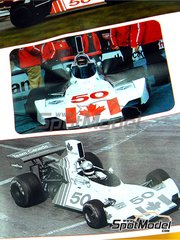 Tameo Kits: Model car kit 1/43 scale - Brabham Ford BT42/3 Team Canada #50 - Eppie Wietzes (CA) - Canadian Formula 1 Grand Prix 1974 - photo-etched parts, turned metal parts, water slide decals, white metal parts and assembly instructions