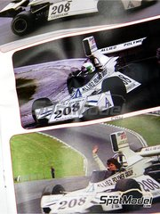 Tameo Kits: Model car kit 1/43 scale - Brabham Ford BT42/3 Allied Polymer Group #208 - Lella Lombardi (IT) - British Grand Prix 1974 - photo-etched parts, turned metal parts, water slide decals, white metal parts and assembly instructions