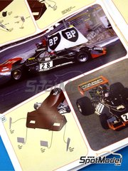 Tameo Kits: Model car kit 1/43 scale - Brabham Ford BT42 John Goldie #28 - John Watson (GB) - Monaco Formula 1 Grand Prix 1974 - photo-etched parts, turned metal parts, water slide decals, white metal parts and assembly instructions