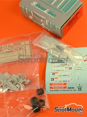 Tameo Kits: Model car kit 1/43 scale - Alfa Romeo 179 Marlboro #22, 23 - Bruno Giacomelli (IT), Andrea de Cesaris (IT) - USA Grand Prix 1980 - photo-etched parts, turned metal parts, water slide decals, white metal parts and assembly instructions image